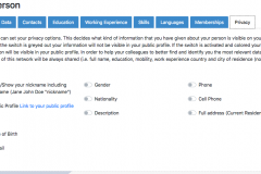 Edit privacy settings