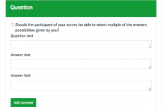 Create a survey